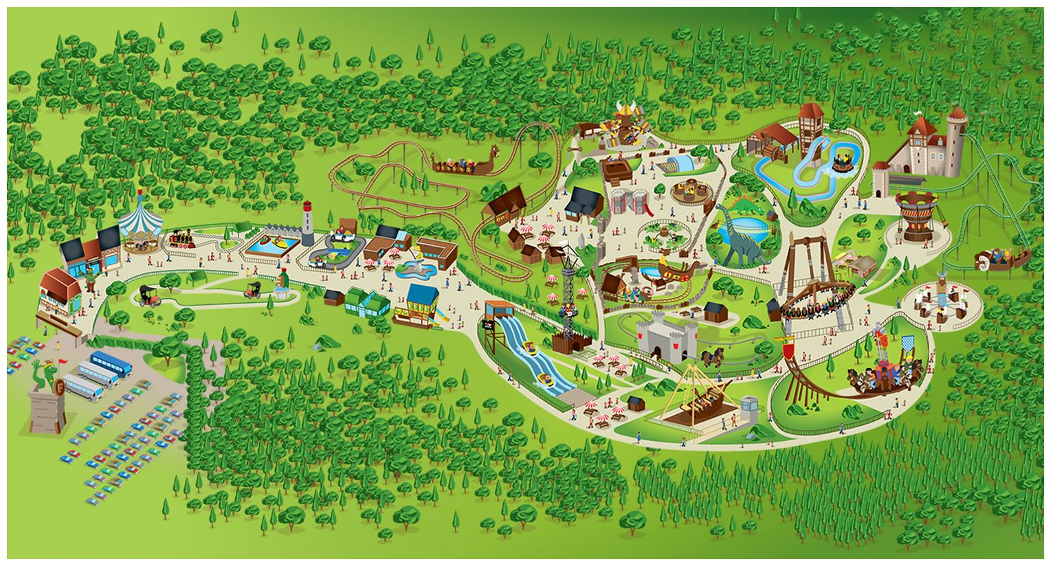 Plan du parc Festyland